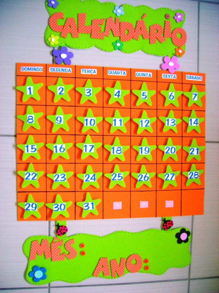 decorar sala de kinder:Modelo De Calendario Para Educacao Infantil