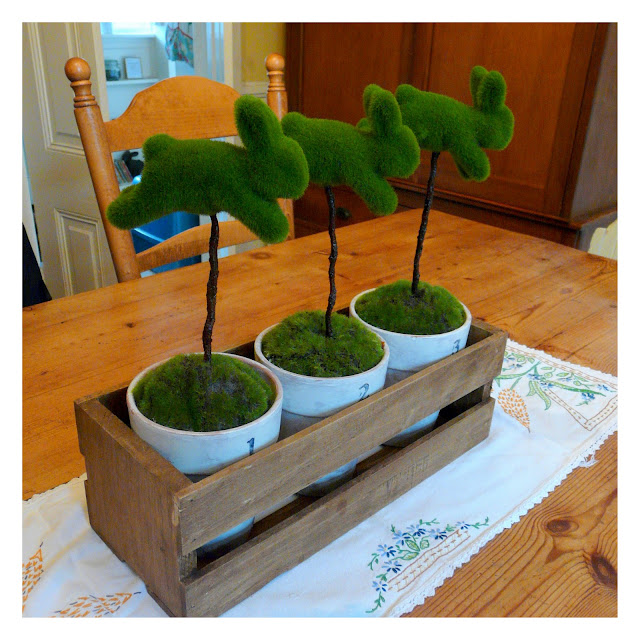 Moss Bunny Topiary Project Easter