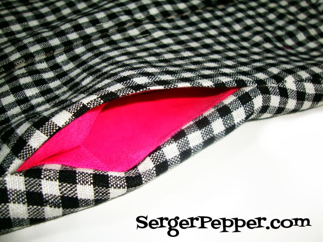 Serger Pepper Add an In-Side-Seam the easy way to any existing pattern - a perfect pocket