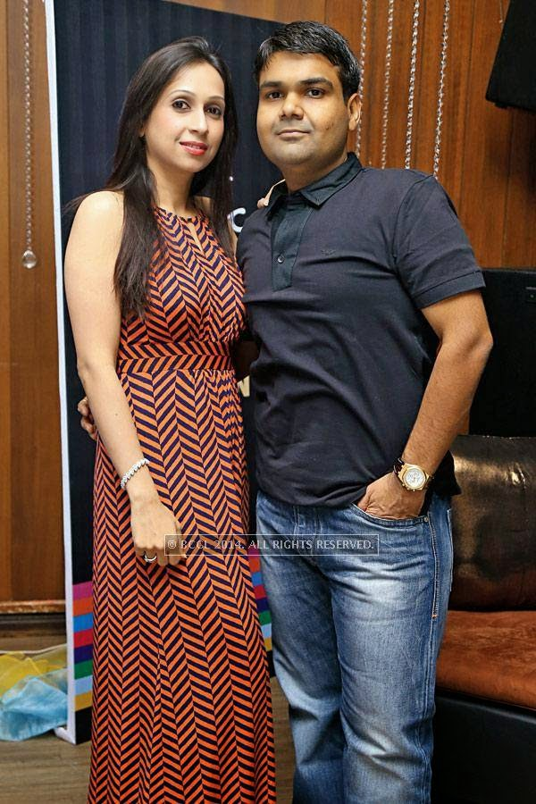 Prachi and Mahendra during a party, held at a lounge, in Indore.