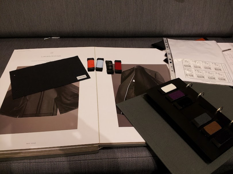 Reiss Personal tailoring customisation selection