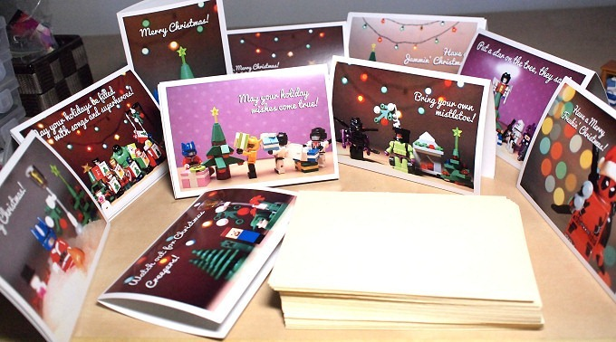 My Scattered Toys 2012 Holiday Greeting Cards featuring Transformers Avengers