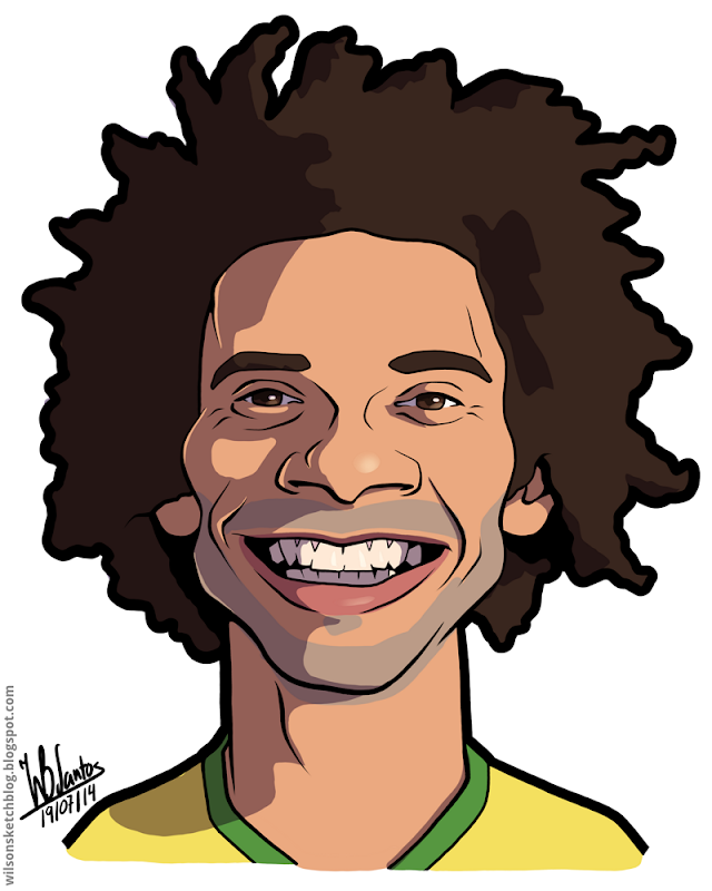 Cartoon caricature of Marcelo.