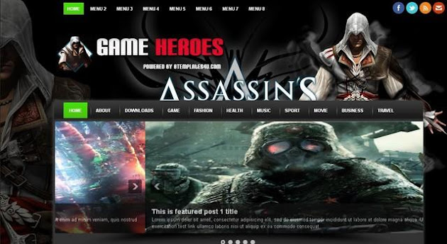 Game Heroes Blogger Template