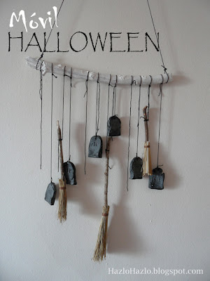Móvil para decorar en Halloween.