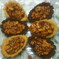 Mini tartelettes aux fruits à coque - recette indexée dans la rubrique Desserts