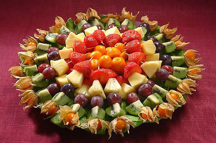 Красивая нарезка фруктов и овощей