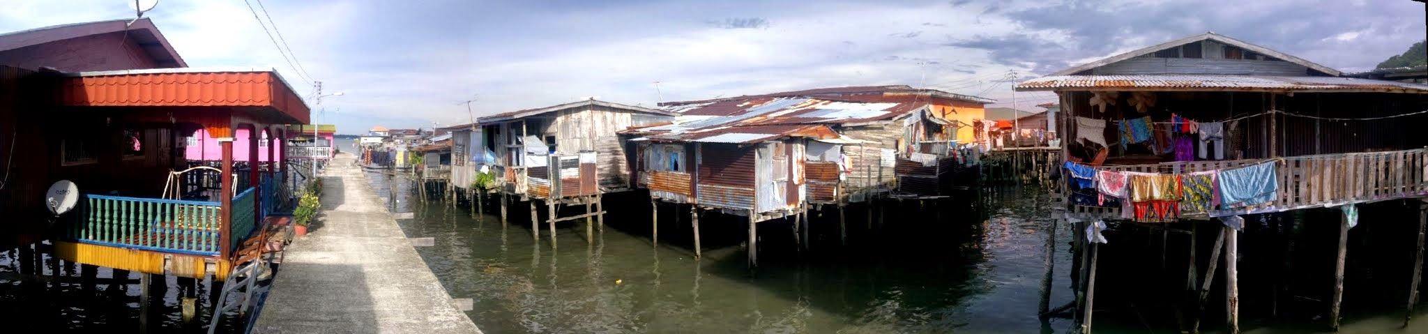 Sim Sim City of Sea Gypsies near Sandakan, Borneo