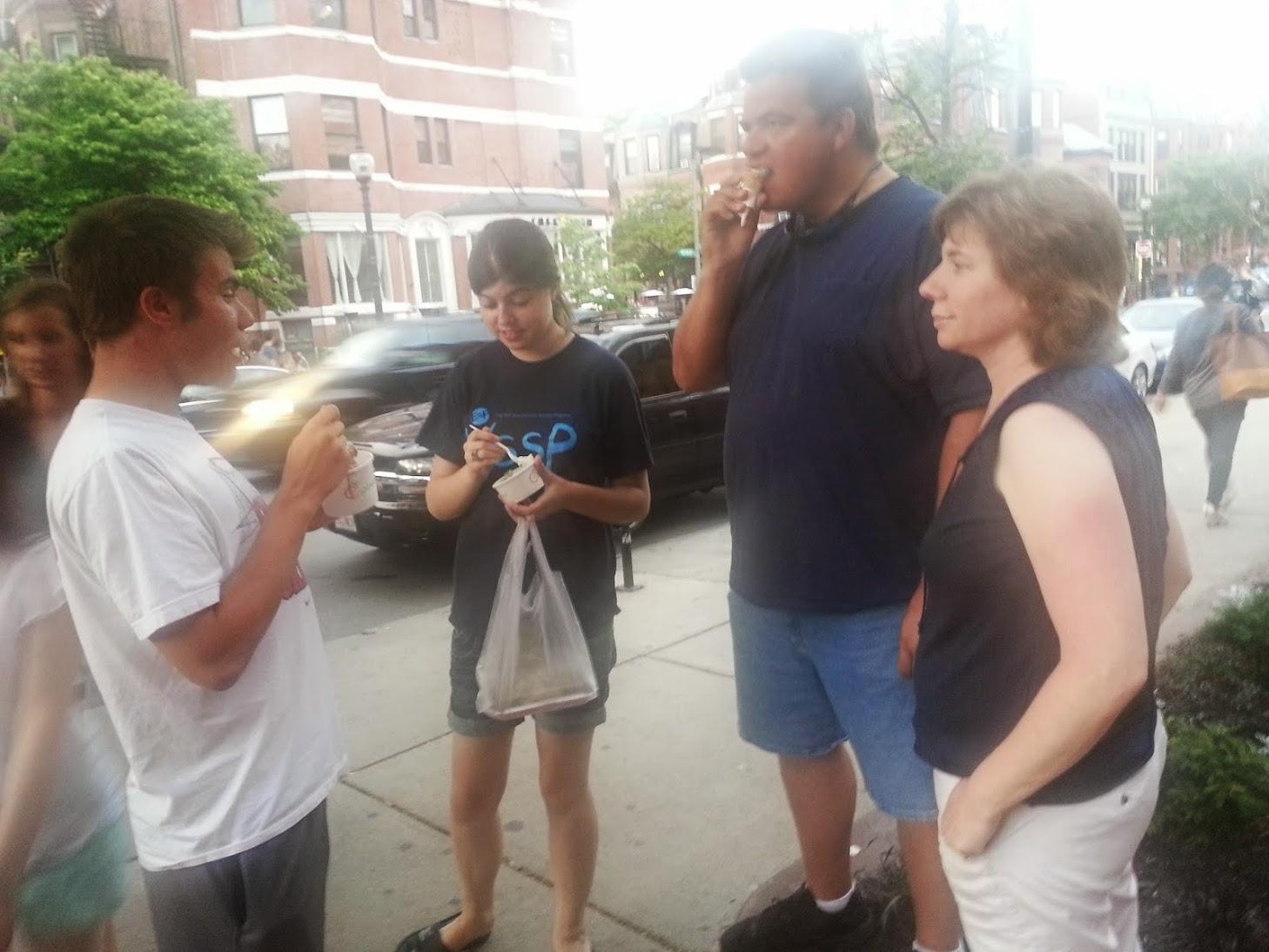 Family in Boston