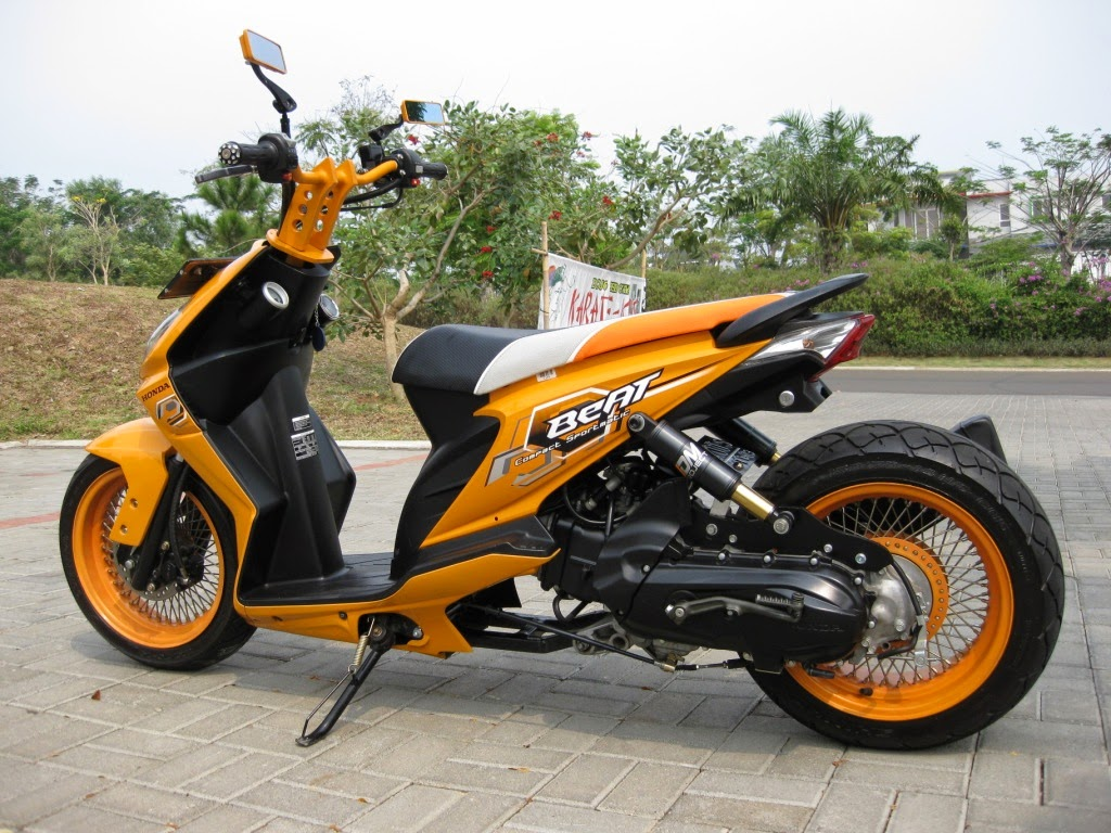 modifikasi motor honda beat pgm fi