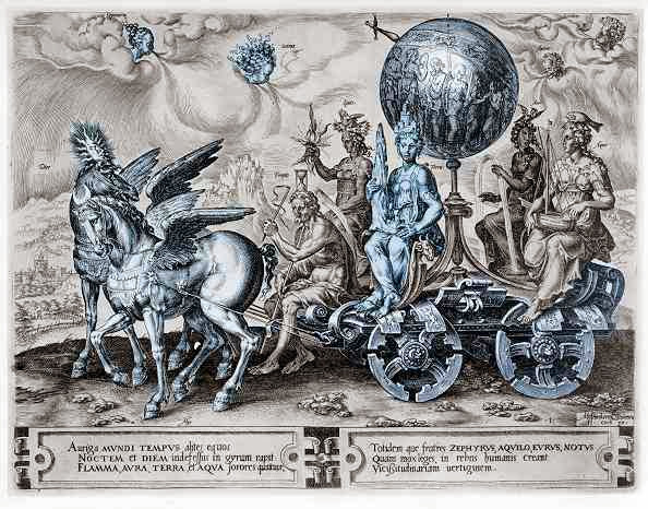 Maarten van Heemskerck - Triumphal carriage of the World