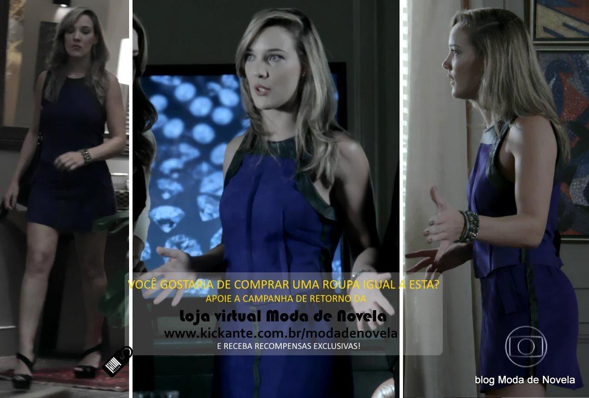 moda da novela Império, look da Amanda dia 11 de fevereiro de 2015