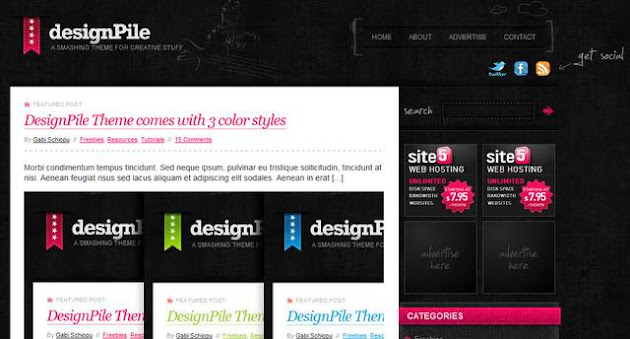 Design Pile WordPress Theme