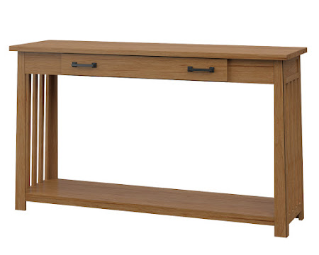 Teton Sofa Table in Calhoun Maple