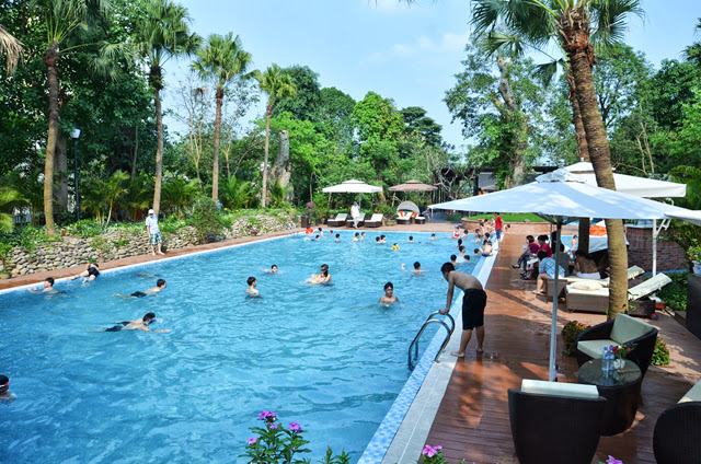 Bể bơi trong khu Vườn Tùng Ecopark