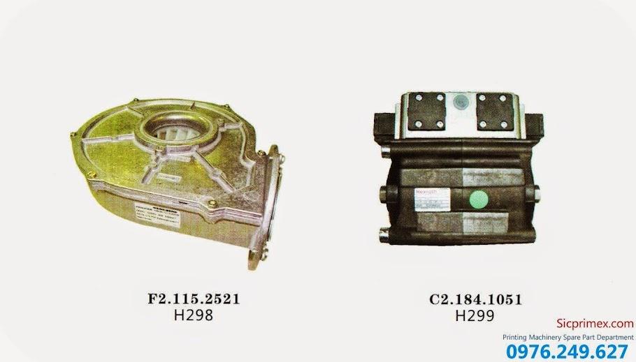 Chuyên vật tư linh phụ kiênh ngành in chính hãng H298-299