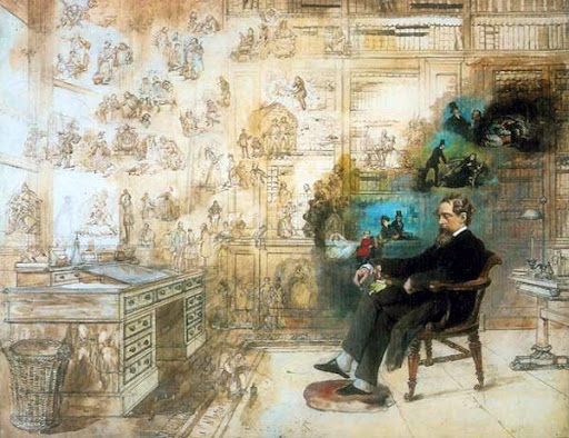 Ilustraciones de los libros de Charles Dickens - Robert William Buss. Dickens´s dream