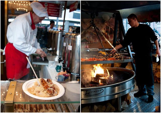 Frankfurt Christmas market, frankfurter, bratwursts