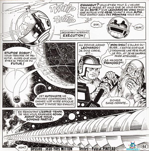 Page 11 de la BD Leonard de Vinci vendue a Mirapolis