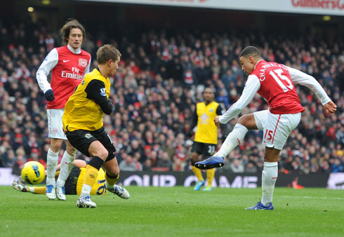 Alex Oxlade-Chamberlain, Arsenal - Blackburn
