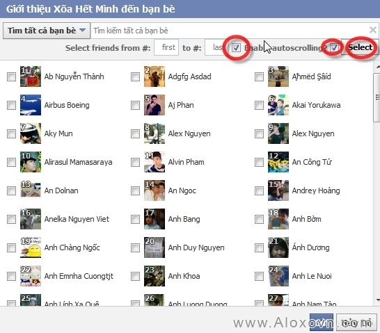 Mời tất cả bạn bè like fanpage facebook bước 3