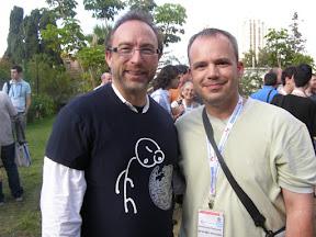 φωτογραφία μου με τον Jimmy Wales