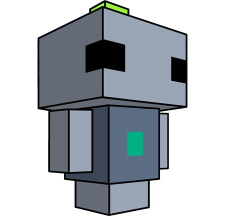 Voxatron Papercraft