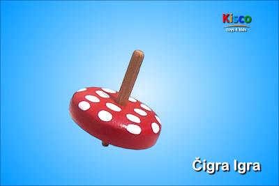 Čigra Igra (na tufne), drvena igračka za decu