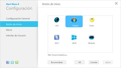 Mostrar botón inicio en Windows 8 con Start Menu 8