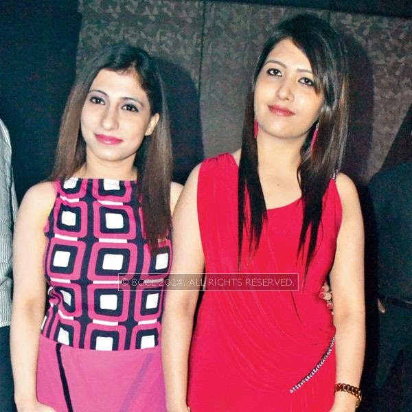 Meenakshi (L) and Sonam during a party thrown by Sumit Chawla and Raveena in Kanpur.