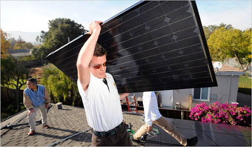 Picking Solar Panels Image