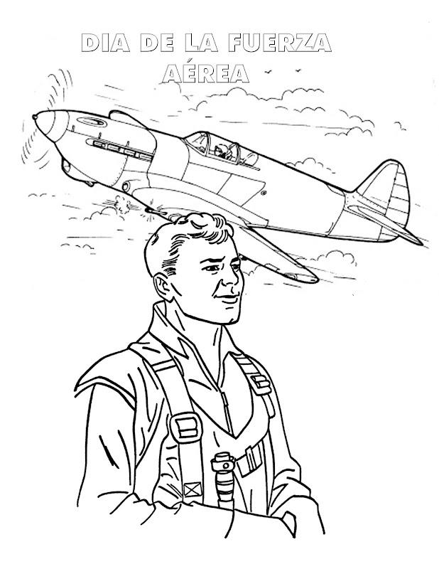 Dia de la fuerza aérea para colorear