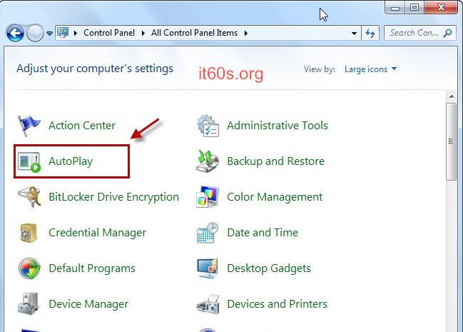 Cách vô hiệu tính năng Autoplay trên hệ điều hành Windows 3