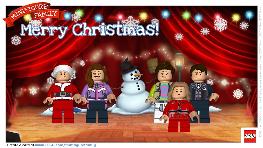 Our LEGO Minifigure Family Holiday Greeting Card