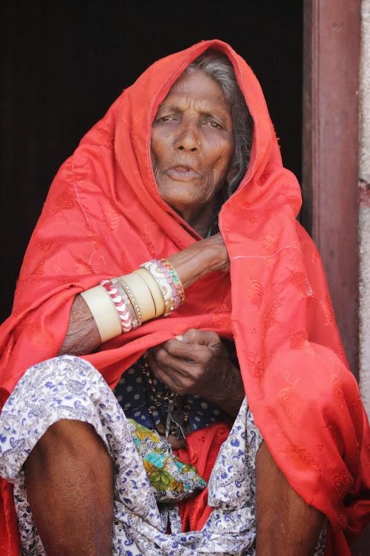 An Elderly Woman from the nomadic Lambani Tribe