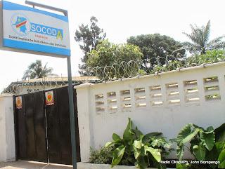 Siège de la Socoda à Kinshasa. Radio Okapi/Ph. John Bompengo