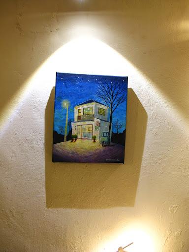 很溫暖的一幅畫,有點幾米的味道-台中咖啡館-拾光機。壹号