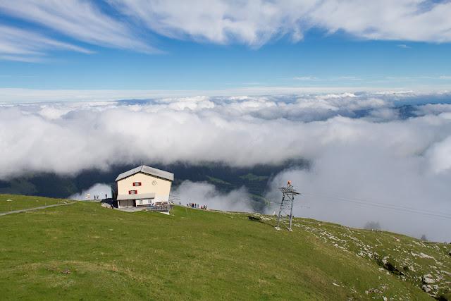 Blick auf die Bergstation