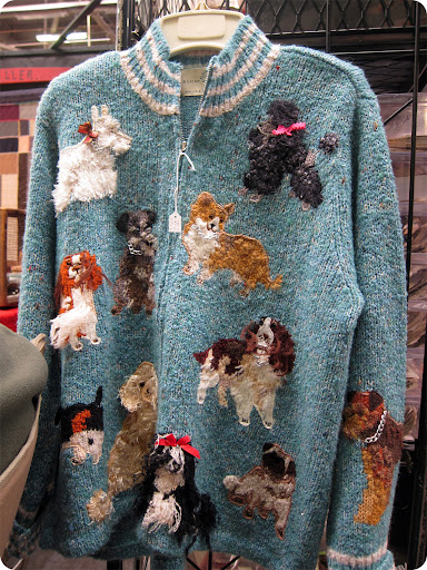 Awesome dog cardigan.