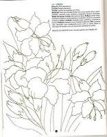 desenho de ramo de lirios