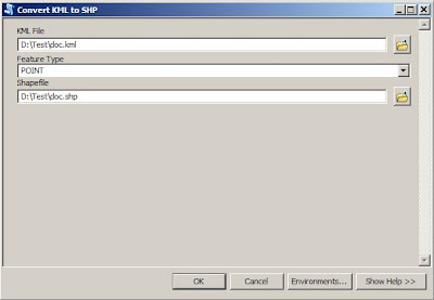 convert kml to shp in arcgis 10