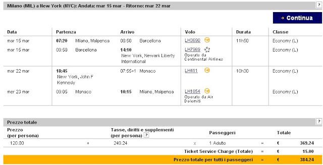 prenotazione Lufthansa