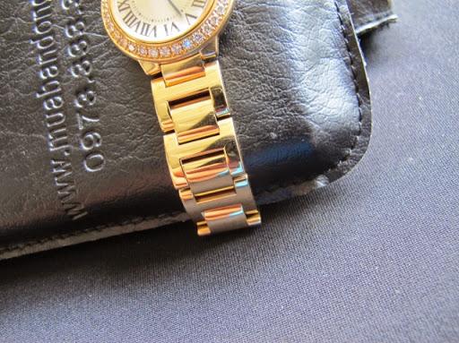 Bán đồng hồ cartier ballon bleu nữ – vành xoàn – size 29mm – dây vàng 18k