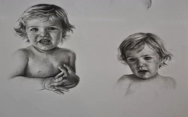 Dos poses Alicia,obra de Carmen Alquezar Valero