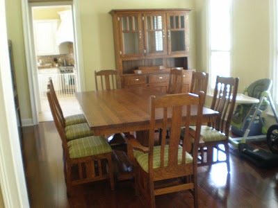 70 X 36 Tuscany Dining Table In Medium Oak And Plains Mission Chairs With