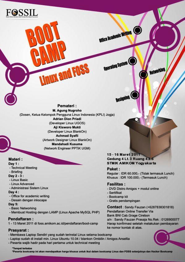 Boot Camp Linux dan FOSS
