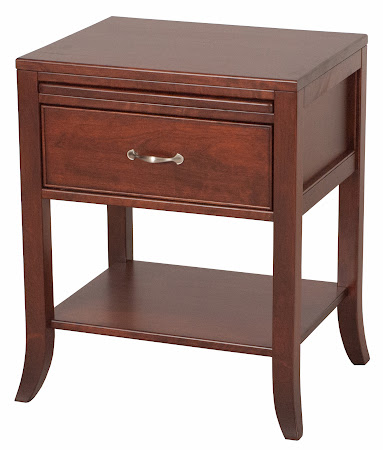 "Matching Furniture Piece: 24"" x 28"" x 18"" Custom Strafford Nightstand with Shelf, in Chocolate Cherry"