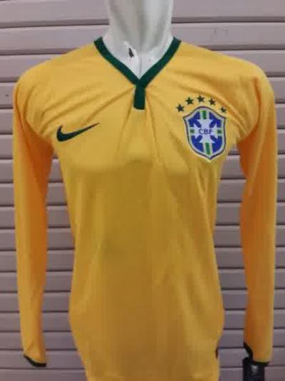 Jual Jersey Brazil Home Lengan Panjang Piala Dunia 2014