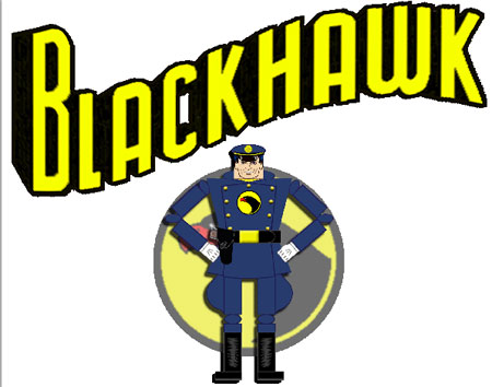 Golden Age Superhero Blackhawk Papercraft