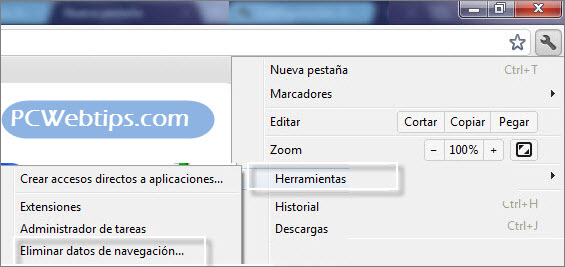 historial de google chrome